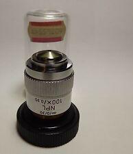 Leitz NPL 100X/0.90 Microscope Objective Lens ∞/0/30 Strain Free