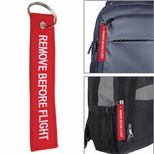 1Pcs Remove Before Flight Embroidered Keyring Shoulderbag Luggage Tag Label New