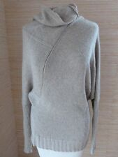 Zoe Couture 100% Cashmere Draped Sweater sz S Oatmeal Dolman Sleeves GUC