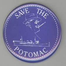 SAVE THE USS POTOMAC FDR Franklin Roosevelt Yacht POLITICAL Pin BUTTON Pinback