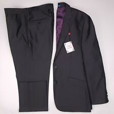 English Laundry 40S Suit Gray Geometric Flat Front Side Vents New Nwt Mens Size