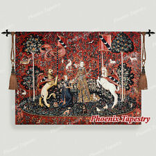 """The Lady & Unicorn Medieval Fine Art Tapestry Wall Hanging - TASTE, 55""""x41"""", UK"""
