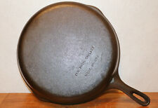 Size # 10 WAGNER Unmarked 11 3/4 INCH SKILLET MADE IN USA Cast Iron Frying Pan