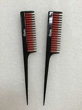 2PCS ANNIE TEASE COMB #40 UNIQUE 3 ROWS TOOTH COMB FOR TEASING WITH RAT TAIL #40