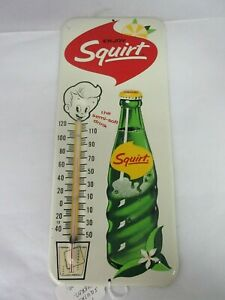 VINTAGE 1960'S SQUIRT  SODA POP   THERMOMETER ADVERTISING   YA-871