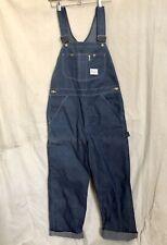 Nos Vtg Sears Tradewear Union Made Real Indigo Denim Bib Overalls Workwear 34x30
