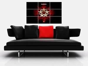 "QLIMAX BORDERLESS MOSAIC TILE WALL POSTER 35""x 25"" HARDSTYLE Q DANCE DEFQON.1"