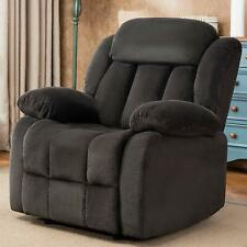 Manual Recliner Chair Living Room Lounge Oversized Chair Reclining Sofa DarkBlue