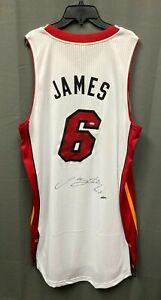 LeBron James Signed Heat Adidas Jersey Sz 2XL UDA COA 2010-11 Game Model Style