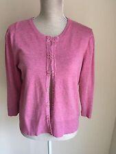 M&Co Women Cardigan Thin Pink Knit Short Size M (12-14) (02)