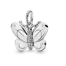 DIY 925 Silver European Charm Butterfly Spacer Beads Fit Necklace Bracelet