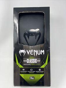 NEW Venum Classic Boxing Gloves 14oz BLACK New In Box