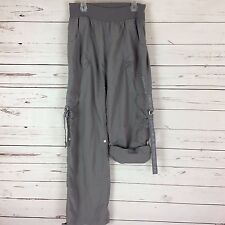 ZUMBA Womens Size Large Fitness Cargo Pants or Capris Dance Wear Nylon Gray D6