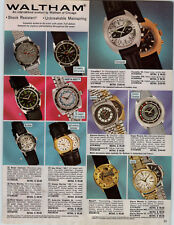 1971 PAPER AD 2 Sided Watham Chronogragh Helbros Wrist Watch Electric 488 485