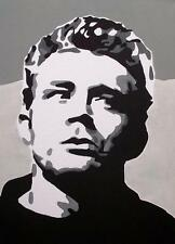 Pop Art Original Oil Painting by Terry P Wylde : JAMES DEAN