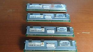 HP 398707-051 2GB PC2-5300F 2Rx4 FBD DDR2 667 Server Memory (Lot of 4)