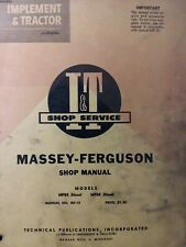 Massey Ferguson MF85 MF88 Gasoline Diesel Engine Tractor I&T Service (2 Manual s