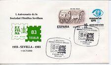 España L Aniversario Sociedad Filatelica Sevillana año 1983 (DD-893)