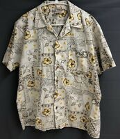 Maui Trading Company Large Hawaiian Shirt  Floral Aloha Cotton Polyester