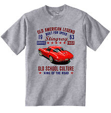 VINTAGE AMERICAN CAR CHEVROLET STINGRAY - NEW COTTON T-SHIRT