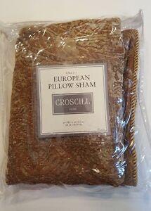 CROSCILL Home ISABELLE European Pillow Sham golds NEW