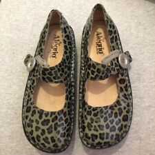 Grey Leopard Print Wedge Shoes
