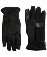 Isotoner Men's Winter Gloves Black Size XL Fleece Tech Smart Touch $50 #319
