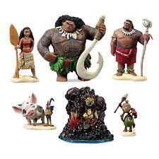 Disney Store Exclusive Moana Figure Play Set Cake Toppers Maui Pua Heihei Te Ka