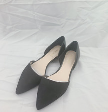 NEW WITH BOX NINE WEST WOMEN'S  Shelbyo BLACK D'orsay Flats SIZE 5