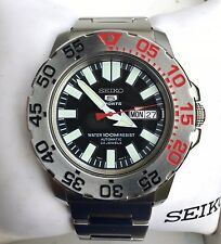 Seiko 5 dive watch, automatic, clear case back, 7S36