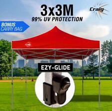Red 3x3m Outdoor Gazebo Marquee Shade Folding Tent Pop Up Canopy Waterproof