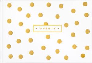 Peter Pauper Press  - Gold Dots -  Hardcover Guest Book