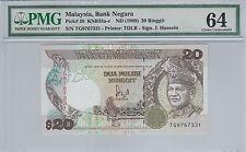 Malaysia 20 Ringgit RM20 (1989) P30 TG9767331 - PMG 64