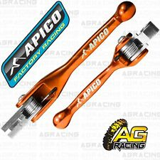 Apico Orange Flexi Brake Clutch Lever Set For KTM EXC 250 TPI 2017-2020 Enduro