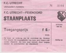 Sammler Used Ticket / Entrada FC Utrecht v Feyenoord Rotterdam 28-03-1982