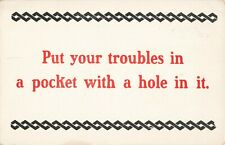 Postcard Put Your Troubles in a Pocket with a Hole in it