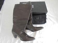 Hugo Boss botas de cuero NP 450 € top zapatos de salón tacón alto bolsa talla 36 36,5 37