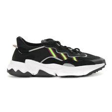 Adidas Kids Ozweego Core Black/Solar Green/Onix Shoes EE7772 NEW
