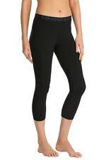 Bonds Ladies Black Core 3/4 Length Cotton Stretch Leggings Size L New CXKAI