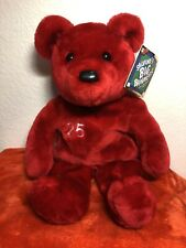 "Plush Big Bammers Red Teddy Bear Mark McGwire #25, 14"" L NEW with Tags G5"
