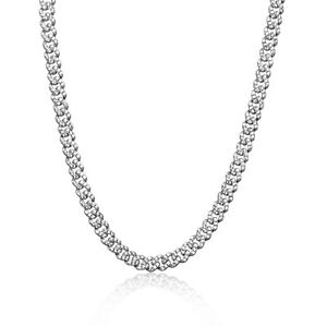 Iced Cuban Link Out VVS Diamond Chain 9mm Necklace 18K White Gold Plated Rapper