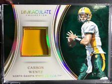2016 Immaculate Carson Wentz HELMET #37/49 mint Eagles