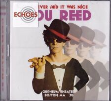 """LOU REED """"I NEVER SAID IT WAS NICE"""" LIVE ORPHEUM THEATER BOSTON OCT 1976 2-CD UK"""