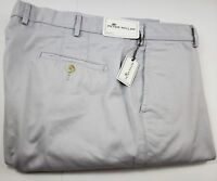 Peter Millar Raleigh Washed Twill Pima Cotton Khaki Pants 40 x 36 Light Gray NWT