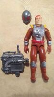 VINTAGE HASBRO 1988 GI JOE CHARBROIL FIGURE FLAMETHROWER INCOMPLETE SERIES 7