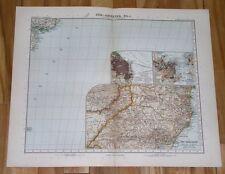 1908 ANTIQUE MAP SOUTHERN BRAZIL RIO DE JANEIRO BUENOS AIRES ARGENTINA INSET MAP