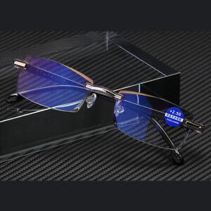 Fashion Rimless Reading Glasses +1.0 +1.5 +2.0 +3.0 +4.0 Strength Plastic Frame