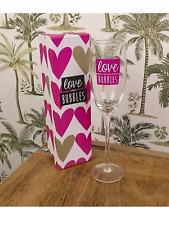 Sedia a sdraio AMORE BOLLE Champagne, Vetro Regalo Perfetto, Compleanno, Festa di nozze