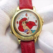 LITTLE MERMAID,Disney Lorus,Musical,w/Rare Red Band,KIDS CHARACTER WATCH,//#1778