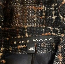 Jenne Maag Womens Wool Jacket Size M/8 lined Button Front with Pockets